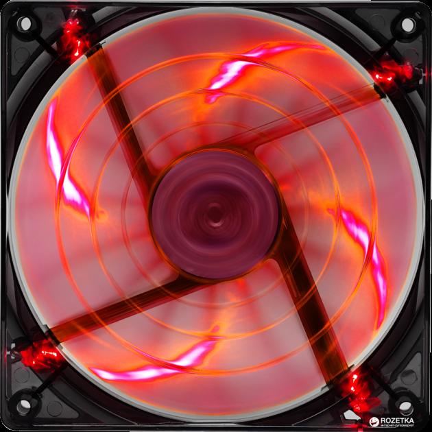 Кулер Aerocool Shark Fan 120 мм Orange LED - зображення 1