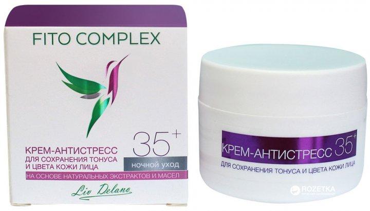 Ночной крем-антистресс Liv Delano Fito Complex 35+ для сохранения тонуса и цвета кожи лица 45 г (4811248006510) - изображение 1