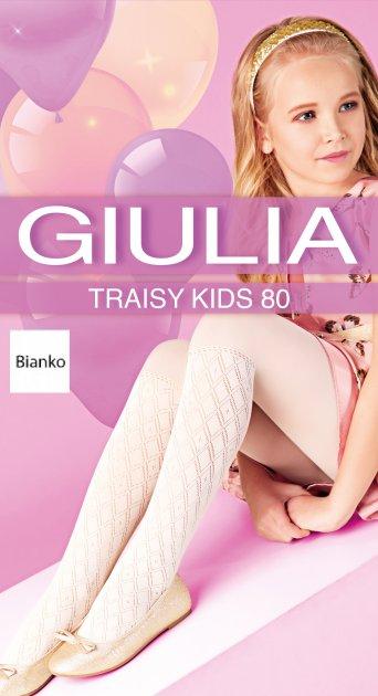 Колготки Giulia Traisy Kids (4) 80 Den 116-122 см Bianco (4823102967448) - зображення 1