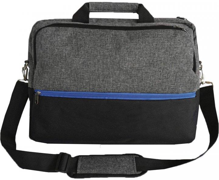 "Сумка для ноутбука Kodor Protection Oxford 600D 15.6"" Grey/Black (Н0011) - зображення 1"