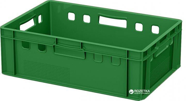 Ящик пластиковый для мяса iPlast E2 600x400x200 мм Зеленый (12.422.70.PE R (FK 6420)) - изображение 1