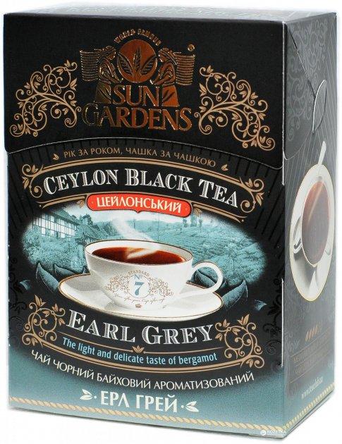 Чай черный рассыпной Sun Gardens с бергамотом Earl Grey OPA 90 г (4820082702755) - изображение 1