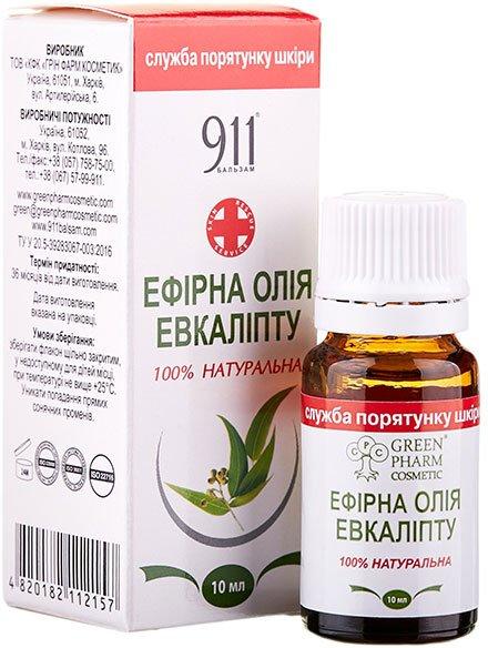 Ефірна олія Green Pharm Cosmetic евкаліпта 10 мл (4820182112157) - зображення 1