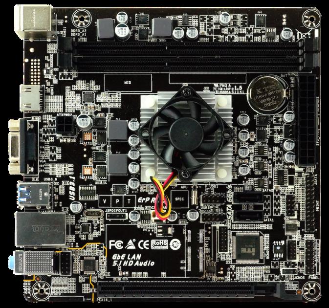 Материнська плата Biostar A68N-5600E (AMD PRO A4-3350B, Carrizo-L, PCI-Ex16) - зображення 1