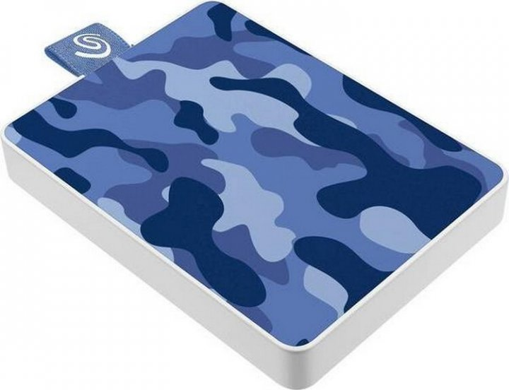 "Seagate One Touch SSD 500GB 2.5"" USB 3.0 Camo Blue (STJE500406) External - зображення 1"
