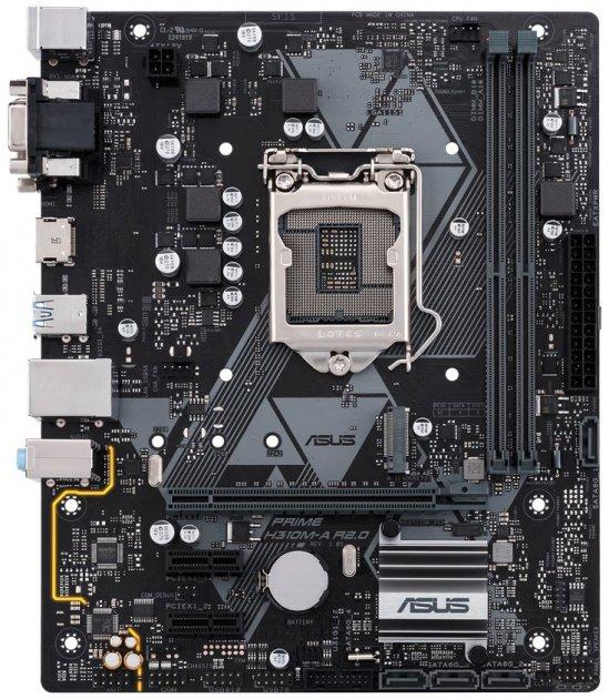 Материнская плата Asus Prime H310M-A R2.0 (s1151, Intel H310, PCI-Ex16) - изображение 1
