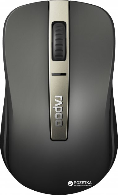 Миша Rapoo 6610M Wireless/Bluetooth Grey - зображення 1