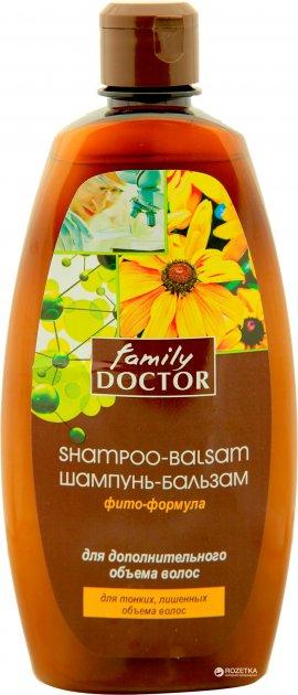 Шампунь-бальзам Family Doctor Фито-формула для дополнительного объема волос 500 мл (4823080001691) - изображение 1