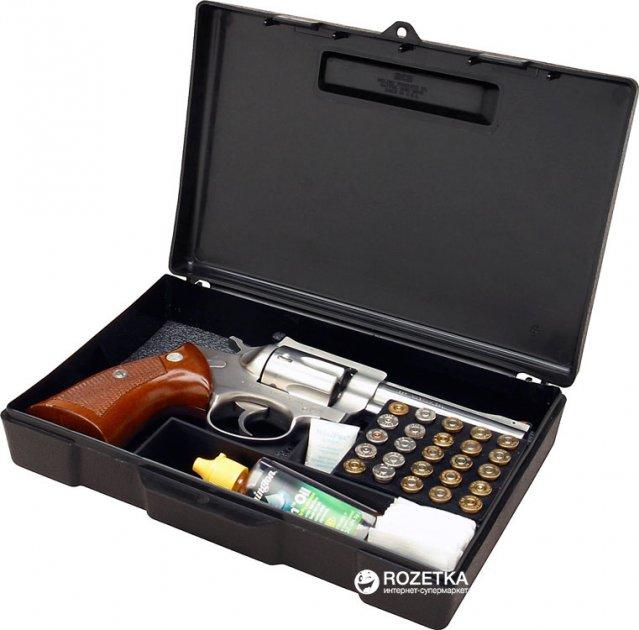 Кейс МТМ Handgun Storage Box для пистолета с отсеком под патроны Черный (17730878) - изображение 1