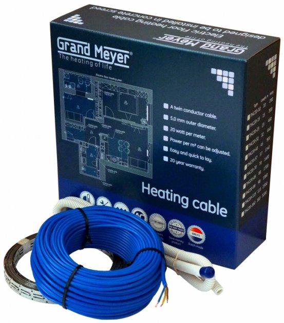 Теплый пол Grand Meyer двужильный кабель 20 Вт/пог. м 23 м (2.0-3.2 м²) (THC20-23) - изображение 1