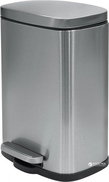 Відро для сміття SPIRELLA Akira 30х21.4 см з педаллю сріблясте (10.19833) - зображення 1