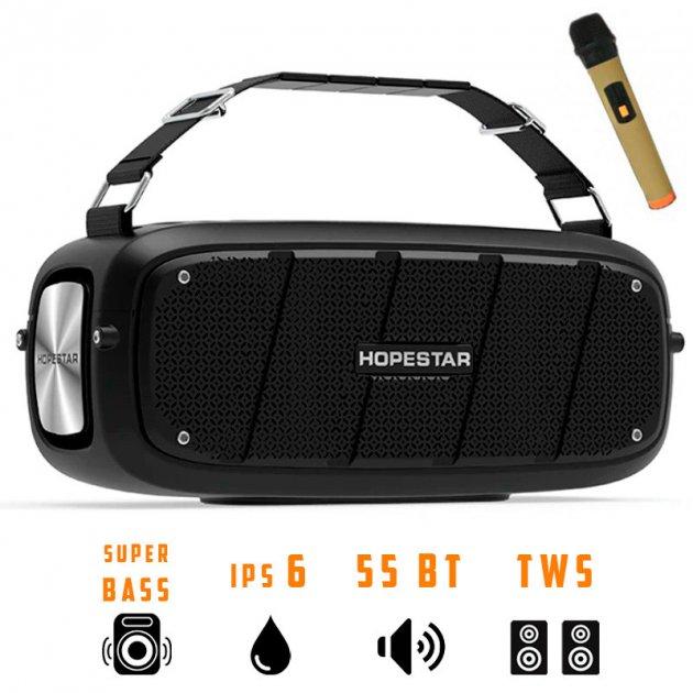 Портативная беспроводная Bluetooth колонка Hopestar A20 Pro 55Вт Black с влагозащитой IPX6 и функцией зарядки устройств (A20B) - изображение 1