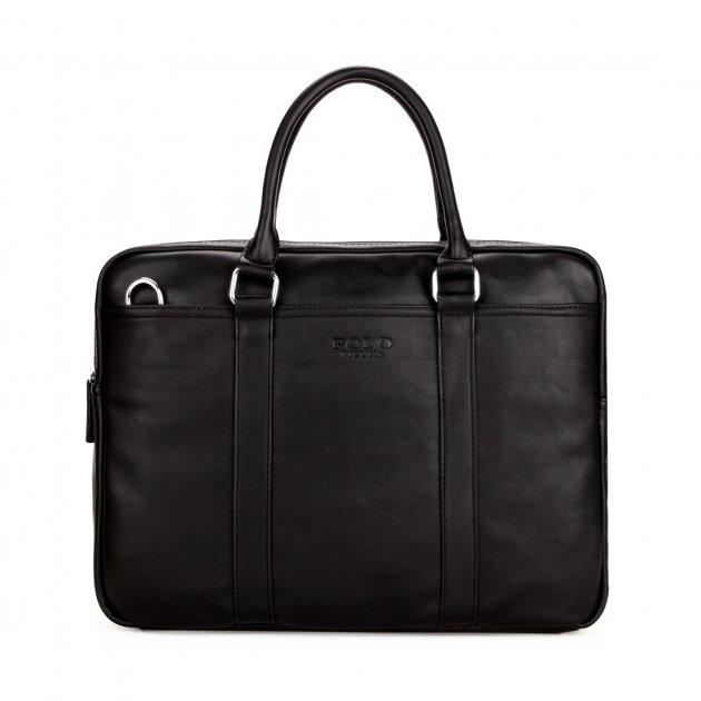 Мужская сумка Polo Vicuna черная (6610-4-BL) - изображение 1