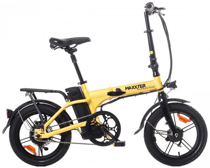 Електровелосипед Maxxter Urban Plus Yellow-Black - зображення 1