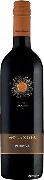 Вино Solandia Primitivo Salento IGT червоне сухе 0.75 л 14% (8000160652608) - зображення 1