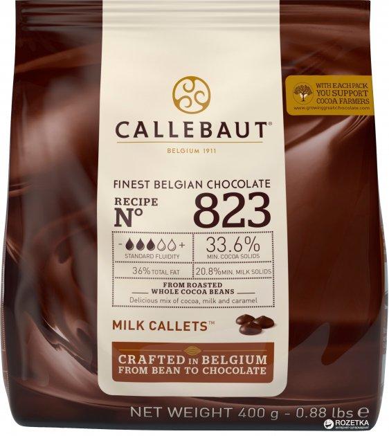 Шоколад Callebaut №823 бельгийский молочный в виде калет 400 г (5410522556209) - изображение 1