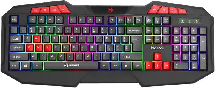 Клавіатура дротова Marvo K602 Multi-LED USB - зображення 1