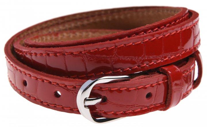 Женский ремень кожаный Sergio Torri 8-0027 85-90 см Красный лаковый (2000000014586) - изображение 1