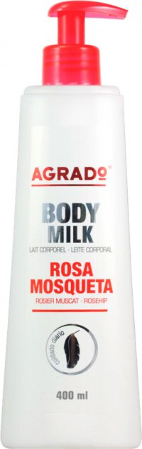 Молочко для тіла Agrado Body Milk Rosehip шипшина 400 мл (8433295038373) - зображення 1