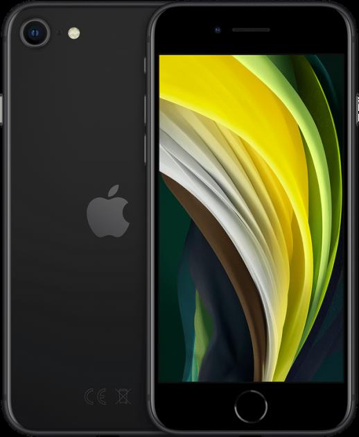 Мобильный телефон Apple iPhone SE 128GB 2020 Black Официальная гарантия - изображение 1