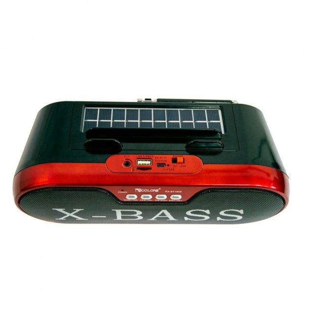 Радіоприймач-колонка на сонячних батареях Golon RX-BT190S червона (VS7003600) - зображення 1