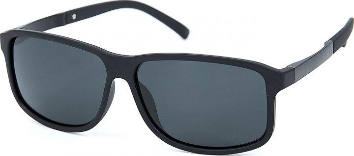 Сонцезахисні окуляри чоловічі поляризаційні SumWin Р005-06 Чорні матові - зображення 1