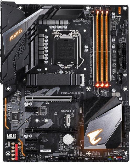 Материнская плата Gigabyte Z390 Aorus Elite (s1151, Intel Z390, PCI-Ex16) - изображение 1