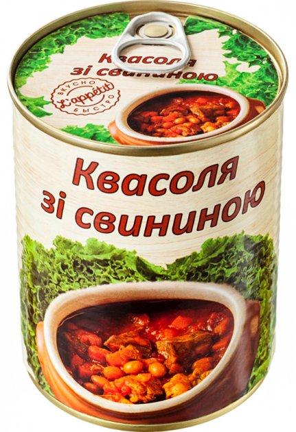 Квасоля зі свининою L'appetit 350 г (4820177070097) - зображення 1