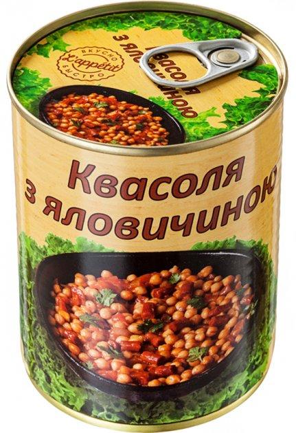 Квасоля з яловичиною L'appetit 350 г (4820177070196) - зображення 1