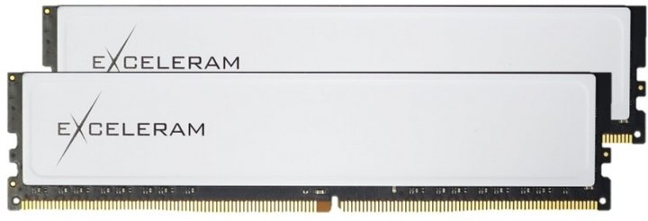 Оперативна пам'ять Exceleram DDR4-2400 16384MB PC4-19200 (Kit of 2x8192) Black and White (EBW416247AD) - зображення 1