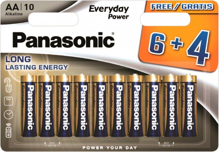 Батарейки Panasonic Everyday Power щелочные AA блистер, 10 шт (LR6REE/10B4F) - изображение 1
