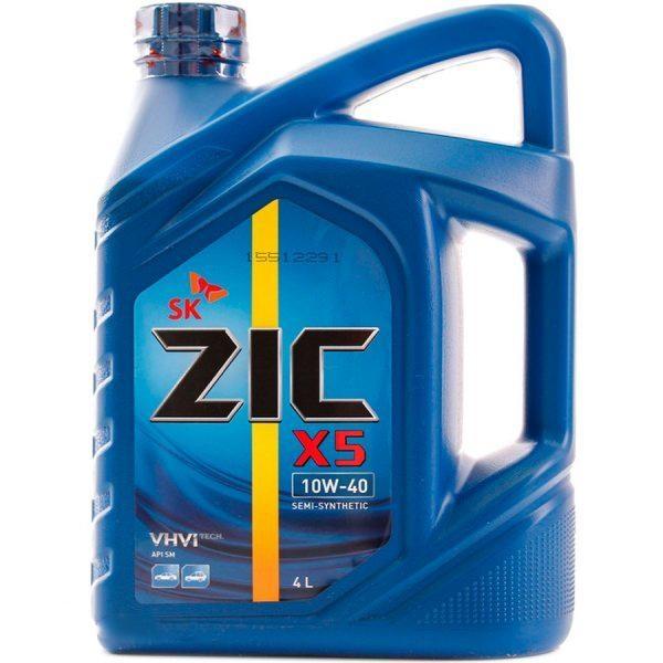 Моторное масло Олива ZIC X5 10W-40 4л - изображение 1