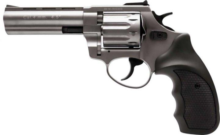 """Револьвер под патрон Флобера Stalker Titanium 4,5"""" black - изображение 1"""