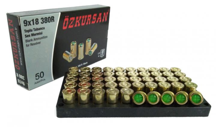Холостий Патрон Ozkursan кал.9 мм (револьверний) 50шт - зображення 1