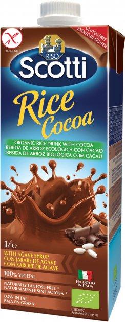 Рисовое молоко Riso Scotti органическое с какао 1 л (8001860254888) - изображение 1