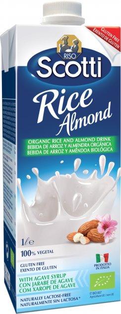 Рисовое молоко Riso Scotti органическое с миндалем 1 л (8001860250828) - изображение 1
