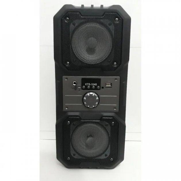 Беспроводная портативная Bluetooth колонка KTS 1048 BT Черная (3448) - зображення 1