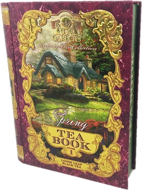 Чай черный листовой Sun Gardens Книга чая: Весна Том 1 жестяная банка 100 г (SG 191) (4820082705169) - изображение 1