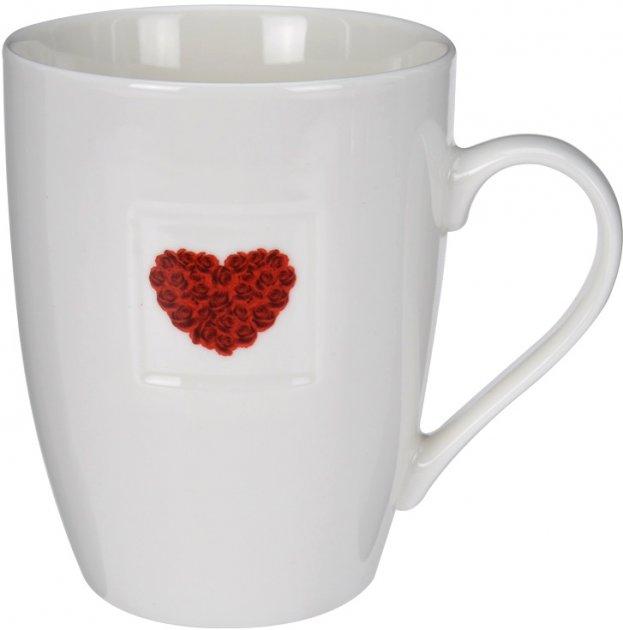 Чашка Excellent Houseware 350 мл (Q75900040_heart_bouquet) - изображение 1