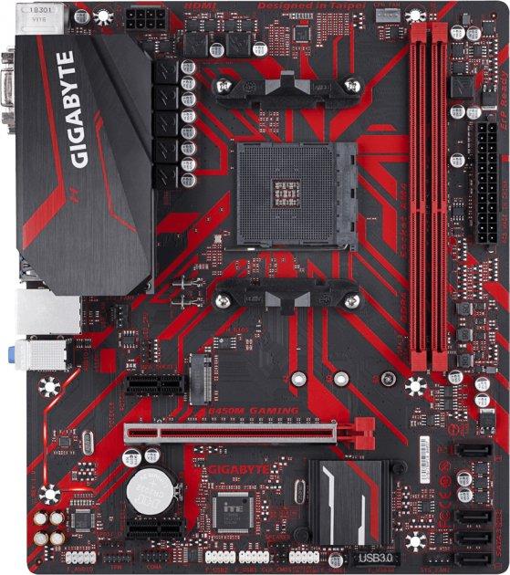 Материнская плата Gigabyte B450M Gaming (sAM4, AMD B450, PCI-Ex16) - изображение 1