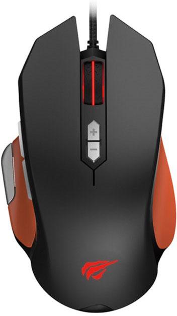 Мышь Havit HV-MS762 USB Black/Orange (24172) - изображение 1
