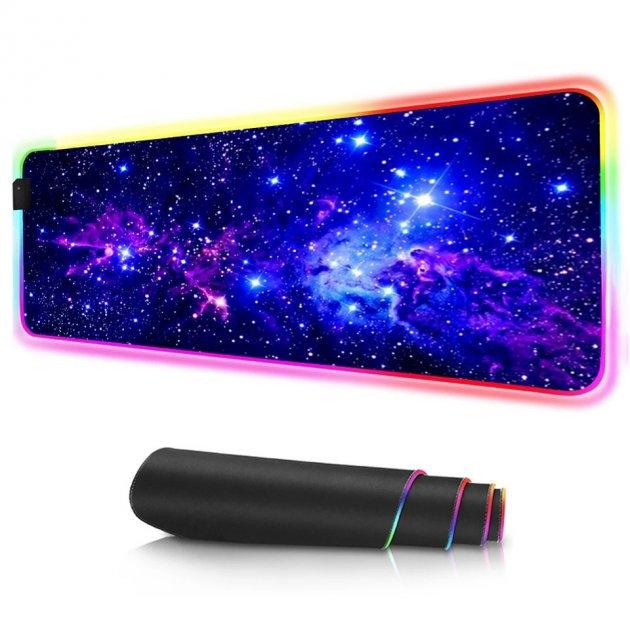 Игровая поверхность с подсветкой 800х300х4мм INTEKO RGB ВСЕЛЕННАЯ - изображение 1