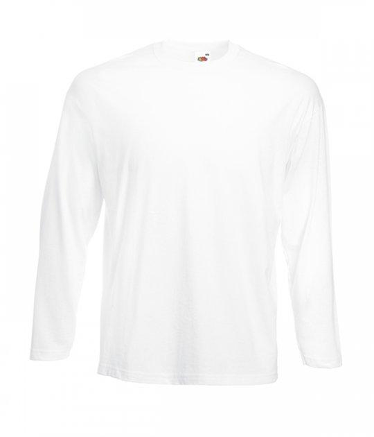 Футболка з довгим рукавом Fruit of the Loom Valueweight long sleeve M 30 Білий (061038030M) - зображення 1