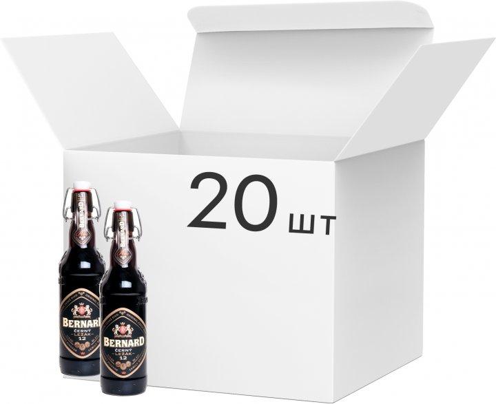 Упаковка пива Bernard темне фільтроване 5.1% 0.5 л х 20 шт. (8594003352522) - зображення 1