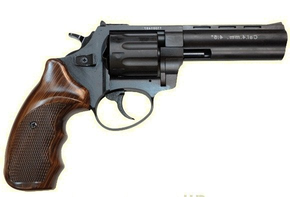 Револьвер под патрон Флобера Stalker 4,5 wood ST45W - изображение 1