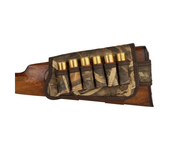 Патронташ на Приклад з Поліестеру Bronzedog Лівша 6 патронів калібр 12/16 Коричневий (8108) - зображення 1