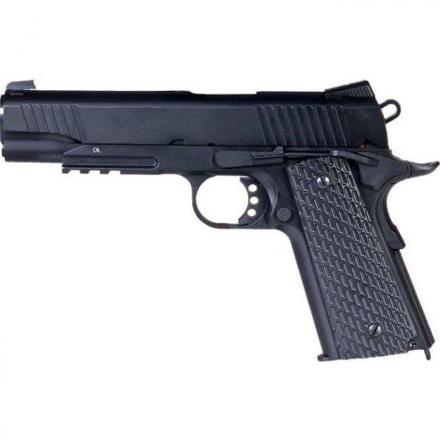 Пистолет пневматический SAS M1911 Tactical 4,5 мм - зображення 1