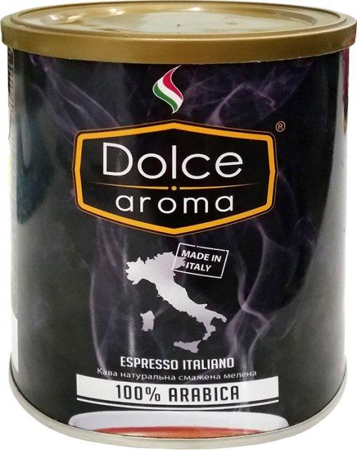 Кофе молотый Dolce Aroma 100% Arabica 250 г (8019650003554) - изображение 1