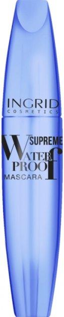 Тушь для ресниц Ingrid Waterproof силиконовая щеточка Черная 5 мл (5902026634601) - изображение 1