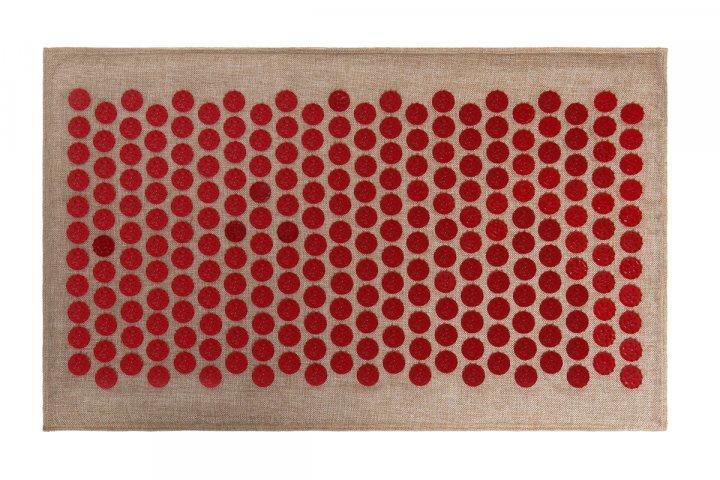 Массажный коврик (аппликатор Кузнецова) Lounge Medium 68*42 см Красный - изображение 1